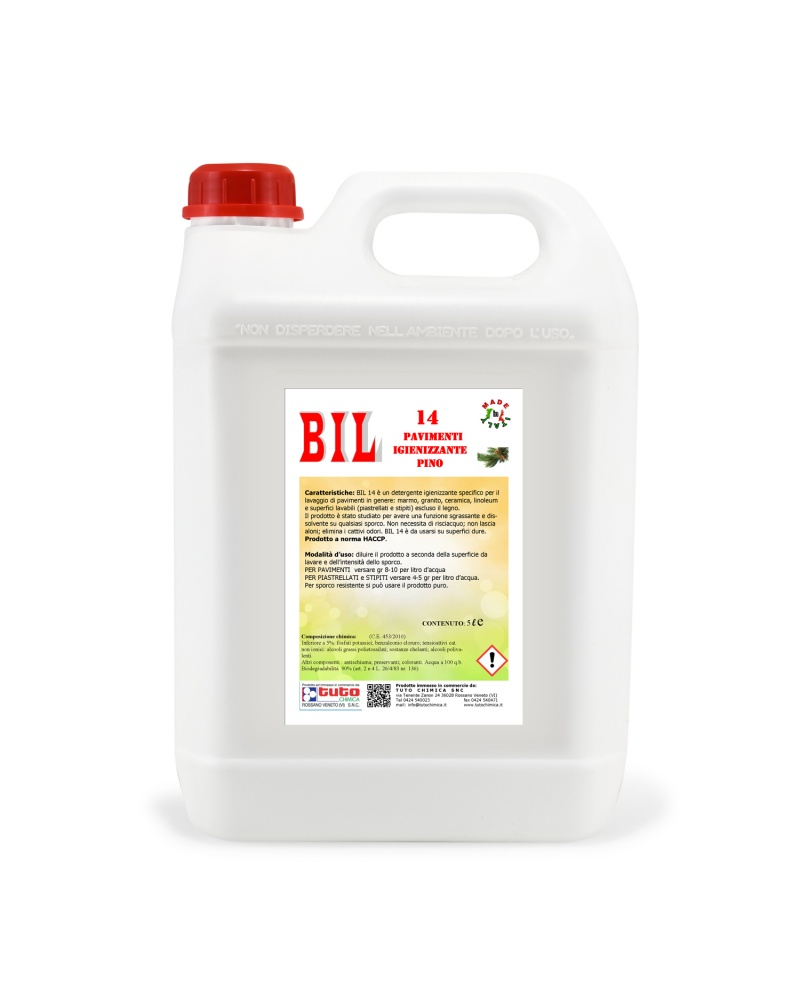 detersivo pavimenti igienizzante professionale Bil 14